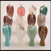 Image of Carved Gemstone Angel Charms