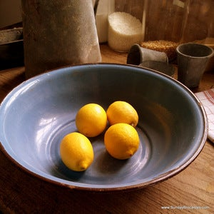 Image of French Blue Enamel Bowl