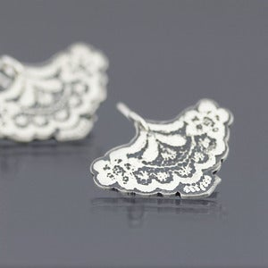 Image of Silver Lace Earrings