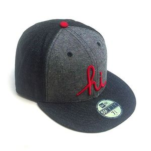 Image of IN4MATION - HI DENIM NEW ERA HAT (CHARCOAL/DRK GREY)