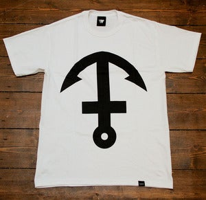 Image of Inverted Anchor Cross - White & Black