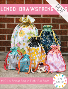Image of Lined Drawstring Bag PDF Pattern
