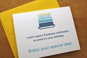 Image of Birthday Facebook Notification Card