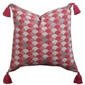 Image of Pink Arches Tassel Cushion Cover