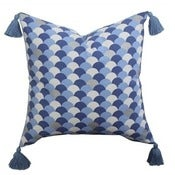 Image of Navy Arches Tassel Cushion Cover