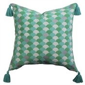 Image of Mint Arches Tassel Cushion Cover