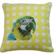Image of Macaw Linen Cushion Cover