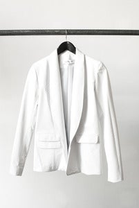 Image of ONYX leather blazer (white)