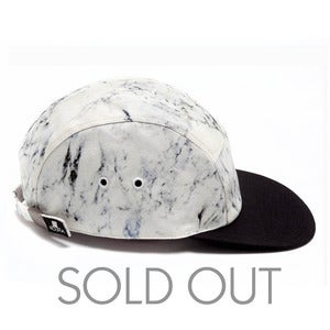 Image of MOUPIA X SHALLOWWW Marble/Black 5 Panel Hat