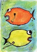 Image of Kevin Seconds 5x7 Digi-Print 'Our Friends That Are Fish'