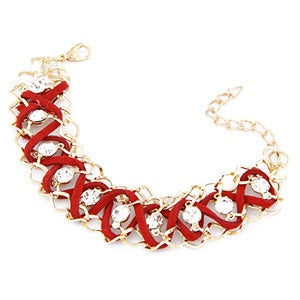 Image of Diamante Bracelet - Red