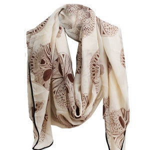 Image of Geo Skull Scarf - Cream
