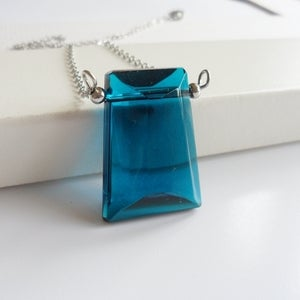 Image of Perspective Necklace (blue)