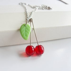 Image of Cherry Necklace (silver)