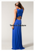 Image of CORAL CUT-OUT BACK MAXI DRESS