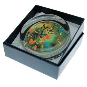 Image of Paperweight - Butterflies on Blues/Greens
