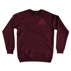 Image of Logo Discrete Crew Neck - Burgundy