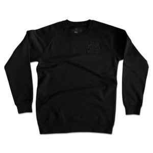 Image of Logo Discrete Crew Neck - Black