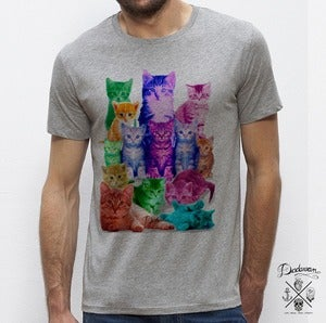 Image of T-shirt homme gris Pussycats colors