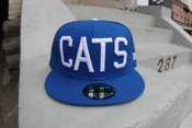Image of blue with white cats new era 5950