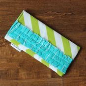 Image of sunnies case - green chevron