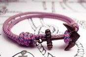 Image of Pulsera Cabo Nudos Rosa/Azul