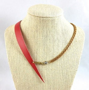 Image of side slash necklace