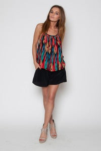 Image of Multi Ikat Braided Detail Tank