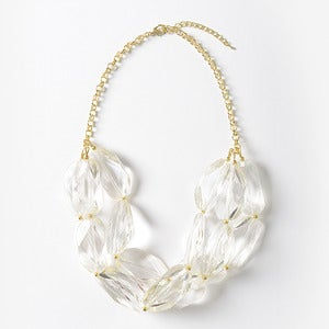 Image of Clear Chunky Crystal Necklace