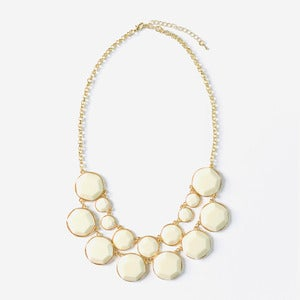 Image of Ivory Jewel Bib Necklace