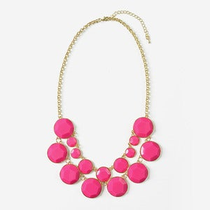 Image of Fuchsia Jewel Bib Necklace