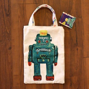 Image of Robot mini tote by Nathalie Lt *NEW*