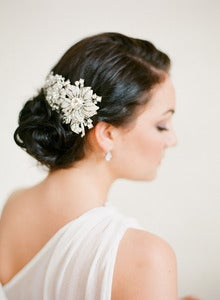 Image of Large Asymmetrical Bridal Comb by Fine &amp; Fleurie
