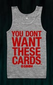 Image of YDWTC GREY/RED TANK TOP 