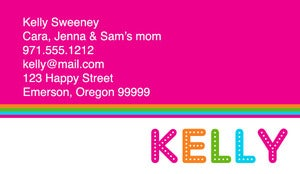 Image of Kelly Calling Card
