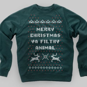 Image of Home Alone Christmas Sweater Crewneck Sweatshirt