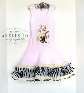 Image of Ruffled Barbie Dress