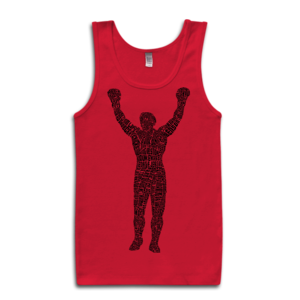 Image of Rocky Statue Tank-Top (Red)