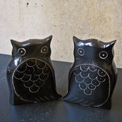 Image of owl salt + pepper shakers