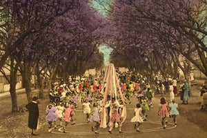 Image of Maypole Dancing Greeting Card &amp; Envelope