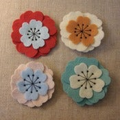 Image of medium ume flower brooch // muted colors