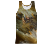 Image of Yellow nebula tank top
