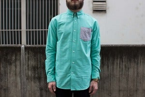 Image of HUF - Rushmore Oxford Shirt (green)