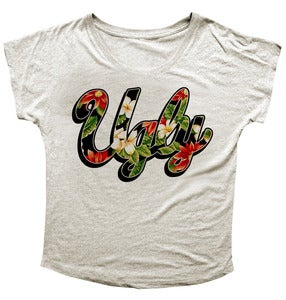 Image of LADIES FLORAL SIGNATURE DOLMAN TEE
