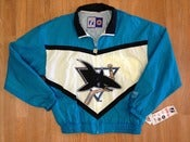 Image of Vintage Deadstock San Jose Sharks Logo 7 Windbreaker