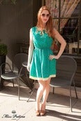 Image of Loop the Loop Dress (green)