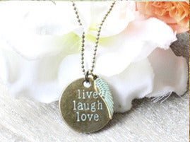 "Image of Collier "" Live, Laugh, Love"""