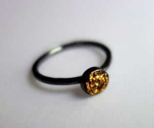 Image of Small Gold Drusy Ring