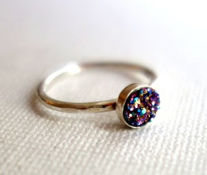 Image of Rainbow Drusy Ring