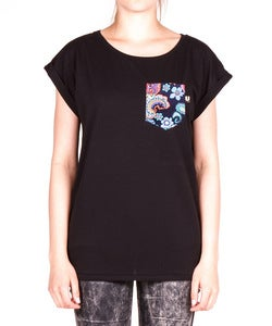 Image of THE WOMEN BLACK 2nd JUNGLE POCKET TEE
